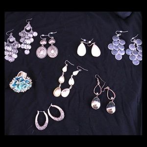 Jewelry - Lot of 6 fashion earrings and 1 ring